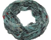 New! Premium Sari Silk Chiffon Printed Ribbon , A,  100g