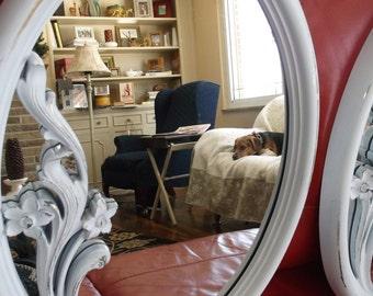 Pair of Vintage Ornate Mirrors Upcycled Vintage Mirrors