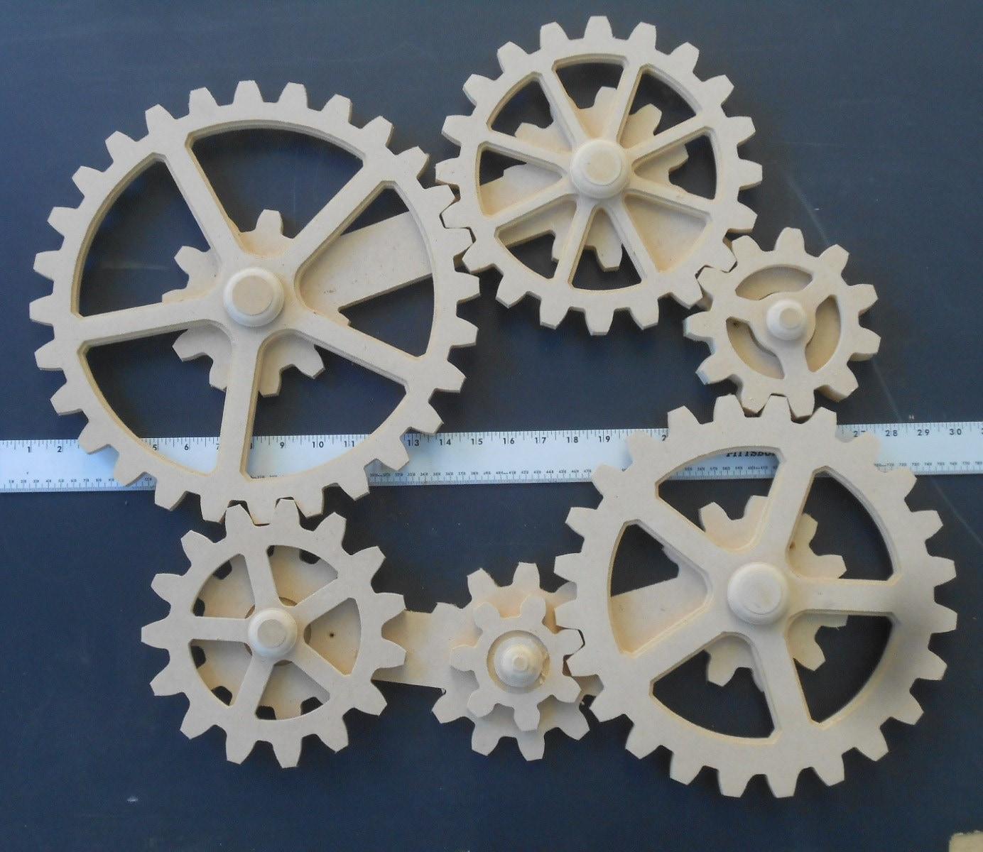 Gear Wall Decor working gears wood gears gear wall kinetic art steampunk