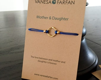 Friendship Bracelet Mother & Daughter, Infinity Circle Heart, For Girls and Women