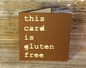 This card is Gluten Free - a papercut card