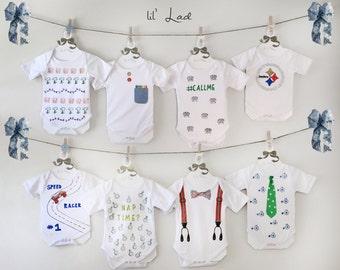 Onesie Decorating Kit! Set Of 24, Infant Boy Gift, Baby Shower Decor,