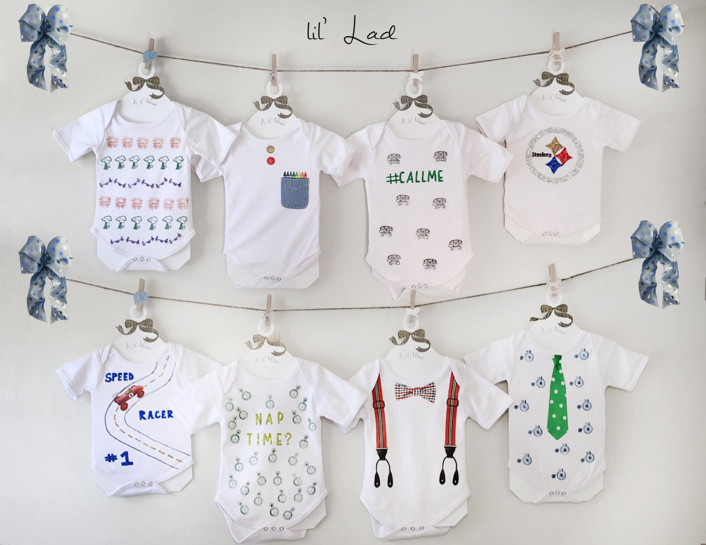 Baby Boy Onesie Decorating kit set of 24Craft Kit Onesie
