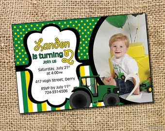 Tractor Birthday Invitation  - PRINTABLE