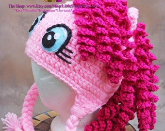 Pinky pie inspired by my little pony thick winter hat any size