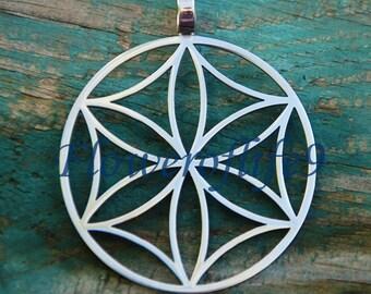 Seven days of Creation (Svarga) 1 3/8 pendant  - Stainless Steel