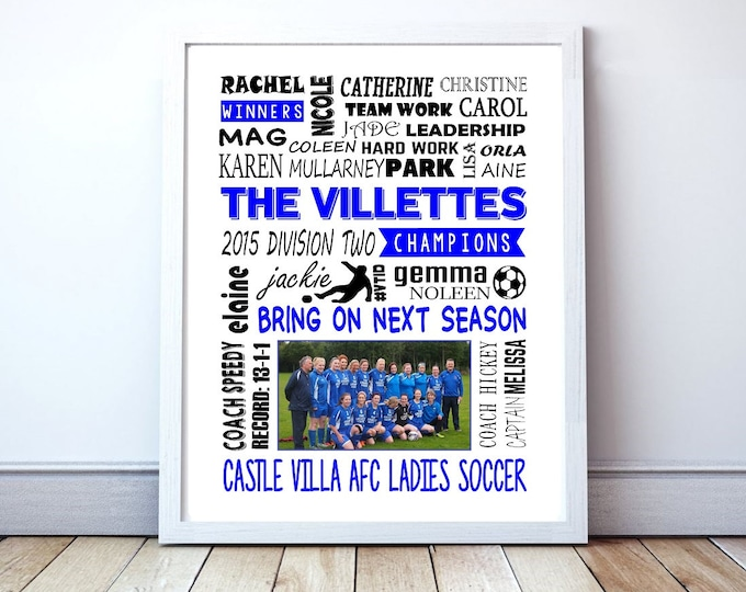 "Soccer Team Poster - Personalized ""New Season"" or ""End Of Season"" Poster With Team Picture"