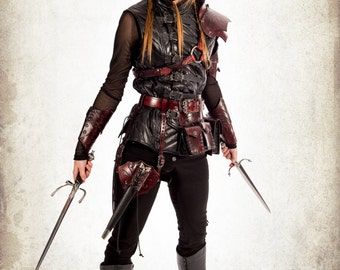 Complete rogue woman armor for LARP, action roleplaying and cosplay