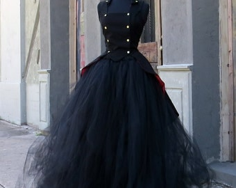 Bridal length Costume Skirt perfect for dramatic Witch Halloween Costume, Bellatrix or Penny Dreadful Cosplay.  Wicked witch, Hogwarts.