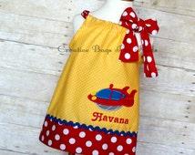 Little Einsteins Dress/ Personalized Little Einsteins Dress/ Little Einsteins outfit (matching Little Einsteins bag available)