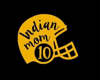 Indian Mom Football Helmet SVG Studio Eps Pdf PNG Vinyl cutting file