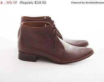 30% OFF Ankle Boots, Woman leather shoes, Handmade shoes, Low ankle shoes, Brown leather shoes, Daily woman shoes, Lace up shoes, Comfort...