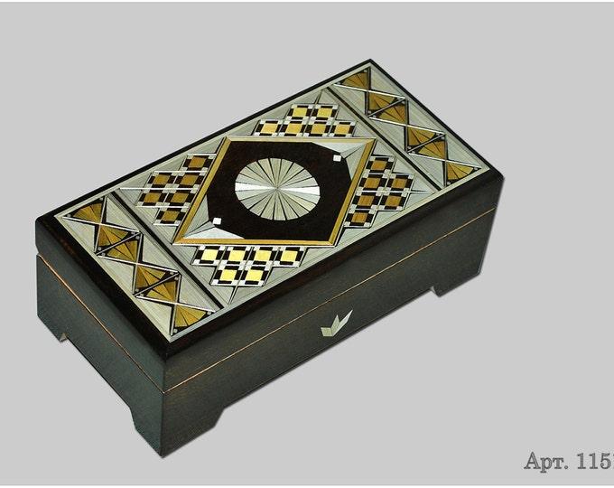 Jewelry box. Casket from Russia. Original gift. #С 1151-40 #32