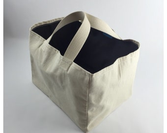 Sade Canvas Grocery Tote, Market Tote, Canvas Bag, Shopping Bag