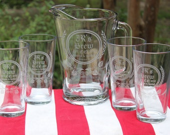 Craft Beer Pitcher & Glass Set - Add your personal beer logo