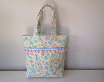Pretty Girls Small Tote Bag, Handbag, Flower Bag