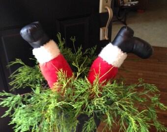 SANTALEGS, Unique Christmas decorations, stockings, Christmas decor, Outside Christmas decor