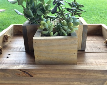 Wood Decor Planters