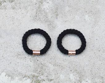 RODOS / Cotton & Magnetic Clasp Handmade Minimalist Bracelet