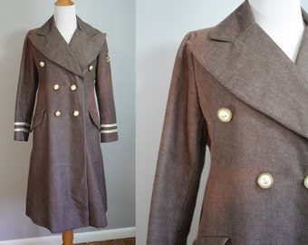 1970's Coat // Nautical Style // Medium