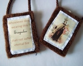 RESERVED Set of 2 Brown Scapulars Catholic O.L. Mt. Carmel handmade