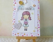Handmade Layered Friendship Card #1606 - Hello Sunshine