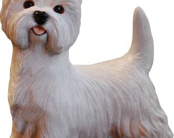 Westie Figurine Standing by PeakdaleSculptures