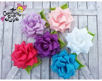 Rose Kanzashi Headband.  Kanzashi Flower