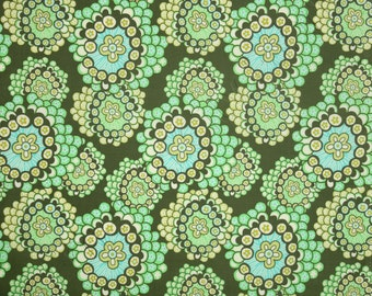 Amy Butler Fabric by the Yard Midwest Modern 2 Dandelion Field Forest Green AB42-FOREST