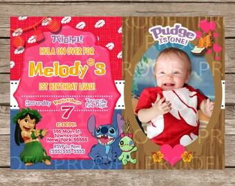 Custom Lilo & Stitch Birthday Invitation