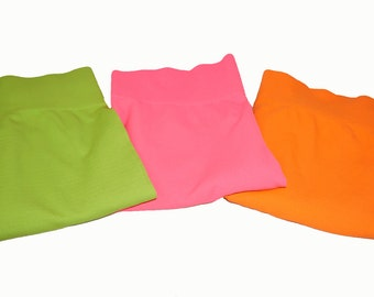 Neon spandex leggings or tights are in style. Fashion tights  are great for exercise. Comfortable in 3 fashionable neon colors.