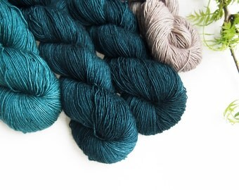 KIT for SIAM LOVE colourway SALTY_NIGHTS ctns: 350g welthase ml fing yarn (colours see below) 1 digital pattern and 1 welthase canvas bag