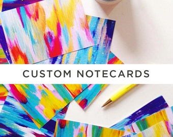 Custom printed Notecards 4x5.82 in