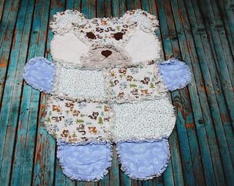Items Similar To Polar Bear Rag Quilt On Etsy