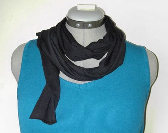 Black Bamboo Jersey Scarf