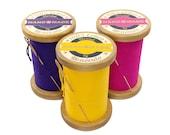 Thread spool stool / wood stool / bobbin stool / thread reel stool / bench / Ottoman / sewing decor - Choose your colour!