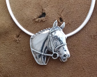 Hunter Necklace, Jumper Necklace, English Horse Necklace