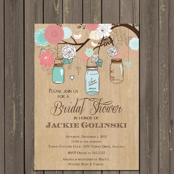 Mason jar invitation mason jar bridal shower invitation rustic il570xn filmwisefo