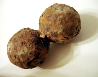 Double Fused Musket Ball Grapeshot 4.4 oz Fairborn Ohio - Possibly Civil War