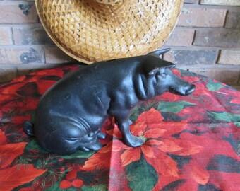 reduced/Vintage Cast Iron Pig Bank.