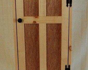 Handcrafted Unfinished Storage Cabinet