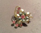 Vintage Pink Rhinestone Pin - Delicate and Sweet
