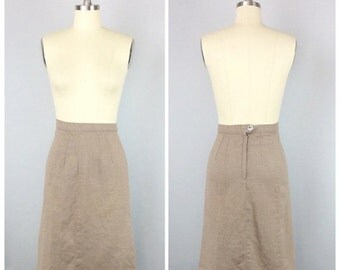 V-DAY SALE /// 50s Moordale Junior Brown Pencil Skirt - 1950s Vintage High Waisted Knee Length Wiggle Skirt - Small - Size 6