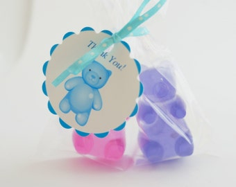 10  Gummy Bear Soap Favors - Birthday Favors  - Party Favors - Baby Shower Favors Thank You Gifts