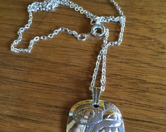 Native Pacific NW Haida Bear Sterling Silver Necklace