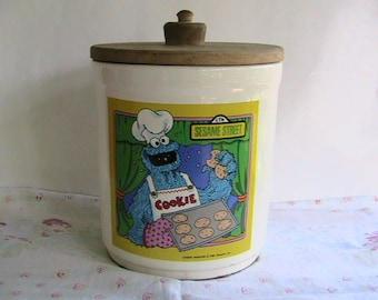 Cookie Monster Cookie Jar Etsy