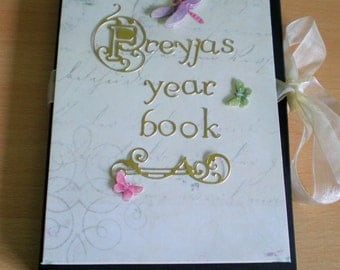 YEAR BOOK, Journal, Photo Album, Scrapbook, Memory Book