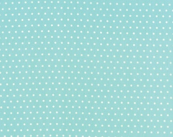 Vintage Picnic Spot Aqua Fabric by Bonnie and Camille for Moda Fabrics