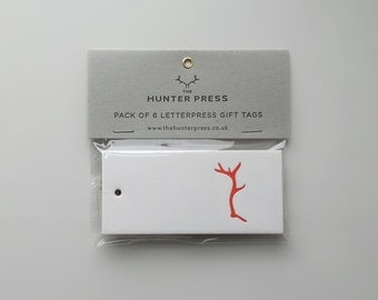 Gift Tag Pack of 6 - Red Deer