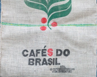 Coffee Burlap Sack Brazilian Coffee Cafe Cafes Do Brasil Hydrocarbon Free Product of Brazil